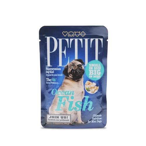 Petit Pouches Okyanus Balıklı Köpek Yaş Maması 80 Gr