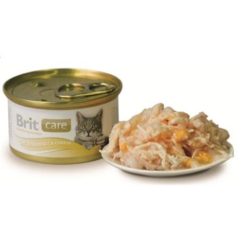 """""""Brit Care Tavuk Ve Peynirli Yetişkin Kedi Konservesi 80 Gr. - 6 Adet"""""""