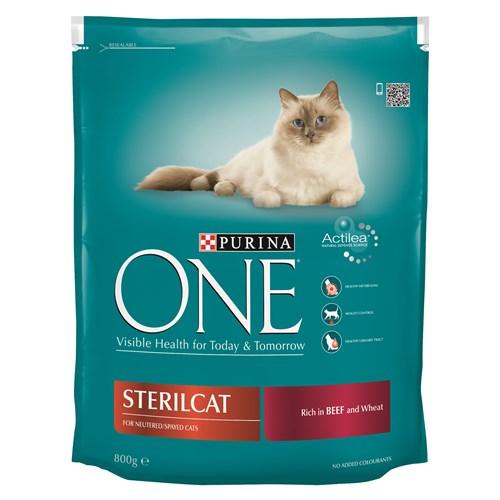 Purina One Steril Kısırlaştırılmış Kediler için Sığır Etli Kedi Maması 800 Gr