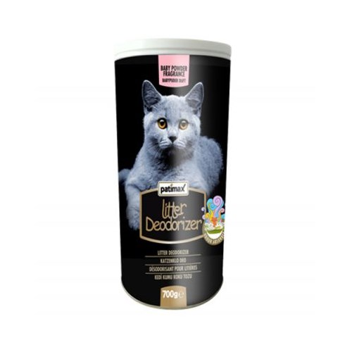 Patimax Deodorizer Bebek Pudralı Kedi Kumu Koku Tozu 700 Gr