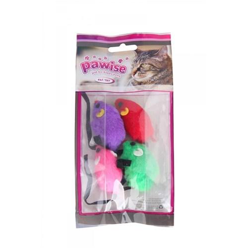 Pawise Kedi Oyuncak Fare 4'Lü Paket