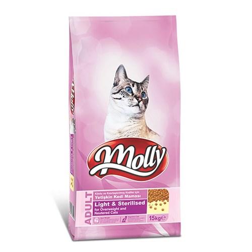 Molly 15 Kg Light - Sterilised Tavuklu Kedi Maması