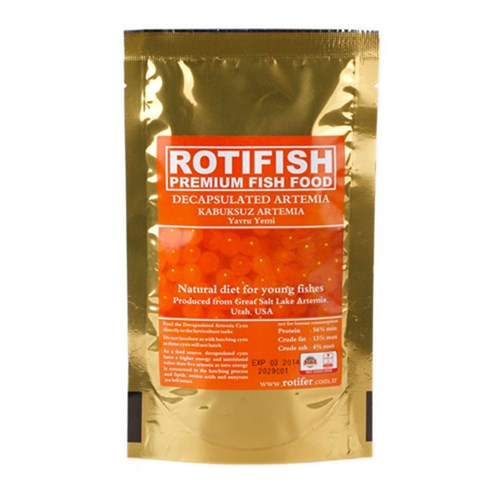 Rotifish Balık Yemi Artemia Yavru Yemi 100 Gr