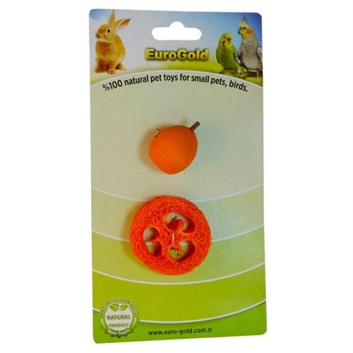 Eurogold Kuşlar Ve Kemirgenler İçin Yenilebilir Meyve Dilimi Ve Ahşap Meyve