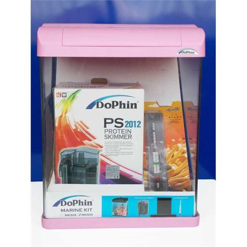 Dophin Deniz Akvaryum Kit-Pembe 32X30x36