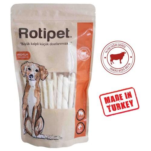 Rotipet Burgu Kemik Beyaz (50'Li Paket)