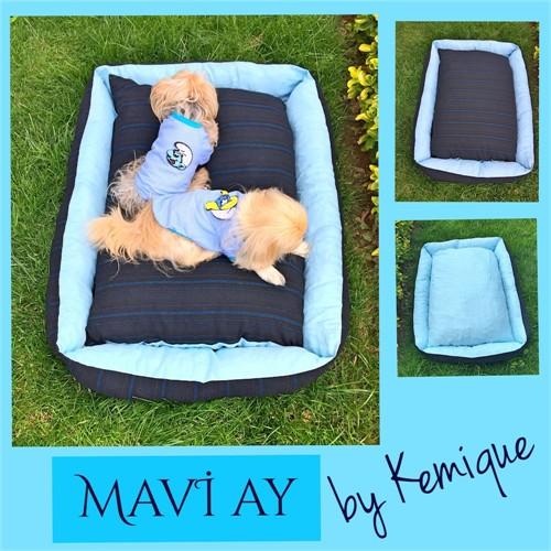 Mavi Ay Köpek Yatağı Kemique 2X-Large