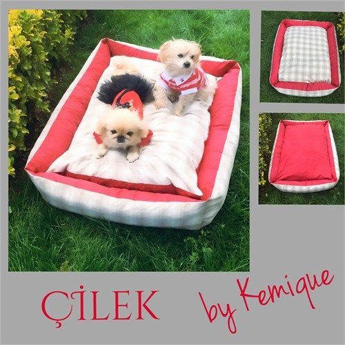 Çilek Köpek Yatağı Kemique 2X-Large