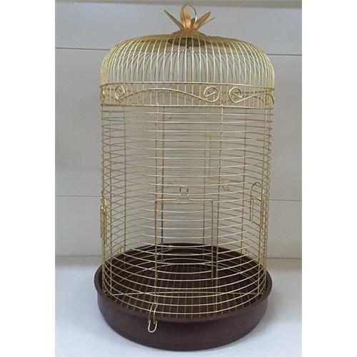 Silindir Pirinç Kuş Kafesi Büyük