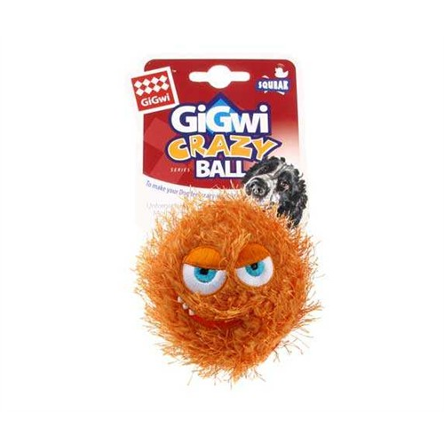 Crazy Ball Çlıgın Kirpi Top Köpek Oyuncağı 6 Cm Portakal Rengi
