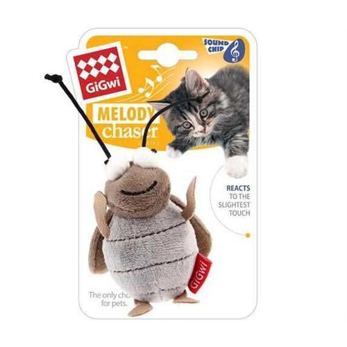 Melody Chaser Hareket Algıladığında Öten Ağustos Böceği Kedi Oyuncağı