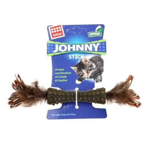 Johnny Stick Kedi Otlu Doğal Tüylü Kedi Oyuncağı