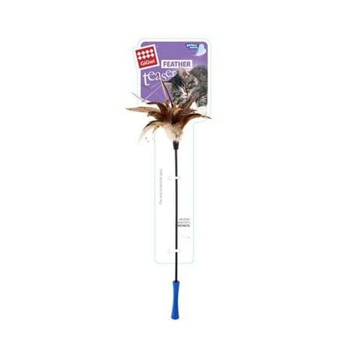 Feater Teaser Kedi Oltası Kuyruklu Doğal Tüylü 60 Cm