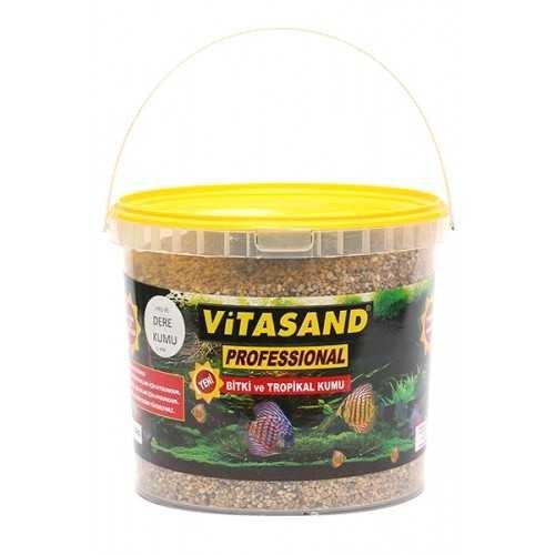 Vitasand Akvaryum Tabanı İçin Dere Kumu 8,5 Kg Kova