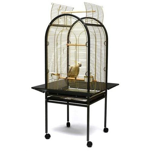 Ayaklı Papağan Kafesi Gri P100