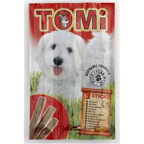 Tomi Köpek Kemirme Çubuğu Dana Etli 3X20