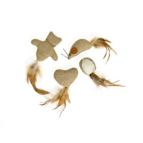 Karlie Naturel Kedi Oyuncağı Kalp 1 Adet 8Cm