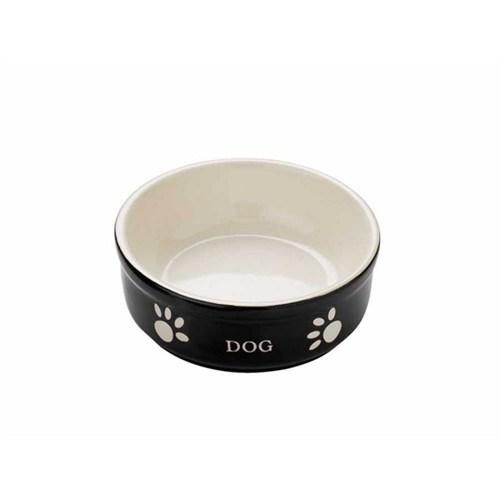 Nobby Dog Seramik Mama Kabı Siyah/Bej 15.5Cm 68768