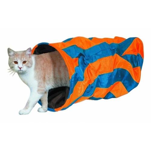 Nobby Kedi Tüneli Mavi/Oranj 50X25cm 80220
