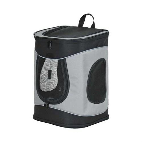 Trixie köpek taşıma bavulu, 34×44×30cm, gri-siyah