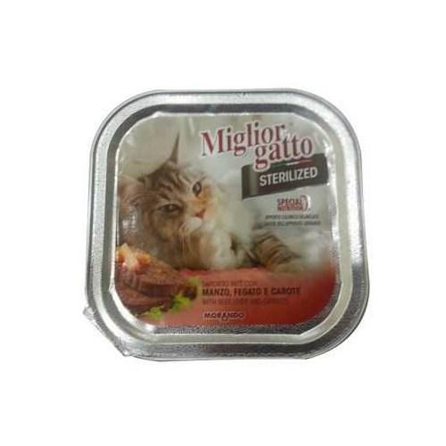 Miglior Gatto Sterilized Biftek Ciğer Havuçlu Kedi Konservesi 100 Gr