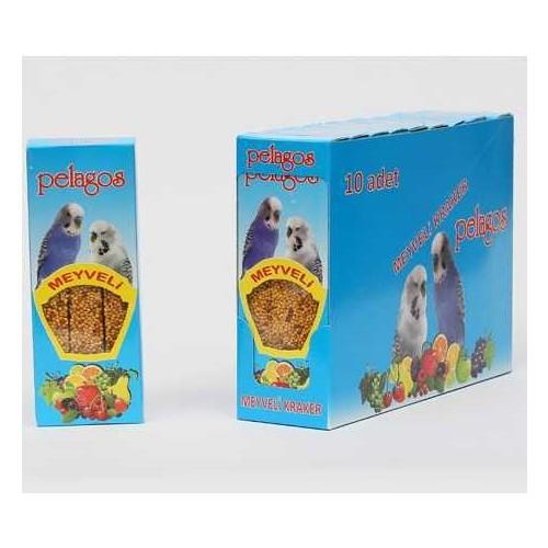 Pelagos Meyveli Muhabbet Kuşu Krakeri 3 Lü
