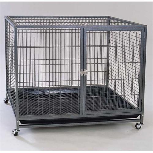 Dayang Köpek Kafesi Galvaniz Tekerlekli 95 Cm X 57 Cm X 85 Cm
