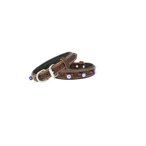 Doggie Comfort Nazar Boncuklu Deri Boyun Tasması 2,0X45 Cm Sbt-2023