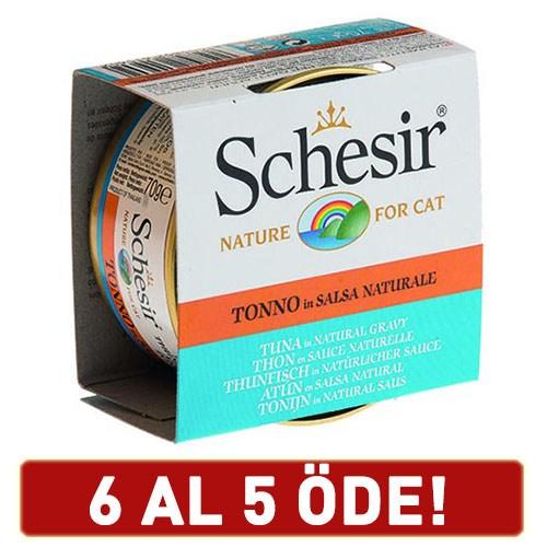 Schesir Ton Balıklı Soslu Yetişkin Kedi Konservesi