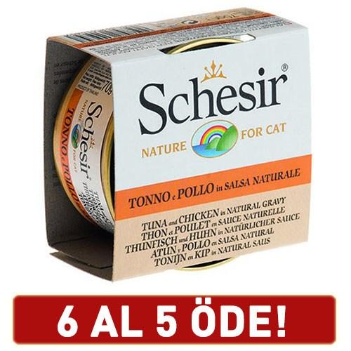 Schesir Ton Balıklı Ve Tavuklu Yetişkin Kedi Konservesi