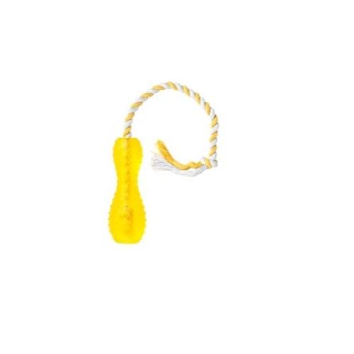 Karlie Kauçuk Köpek Oyun Cubuğu Iplı 15Cm Pembe