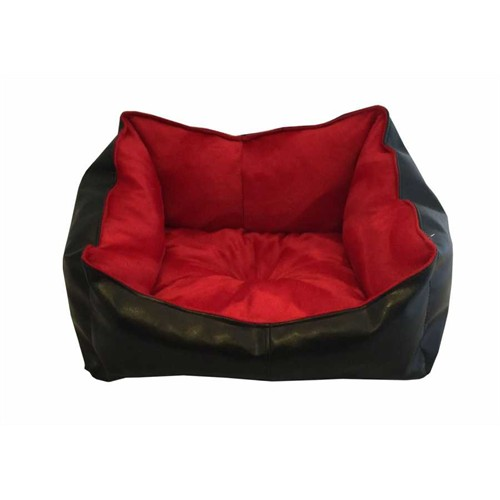 Leos Deri Kedi Ve Küçük Irk Köpek Yatağı Kırmızı No:1 36 X 46 X 22 Cm