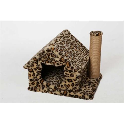 Leo's Kedi Evi Ve Tırmalama Tahtası Leopar 50 X 40 X 45 Cm