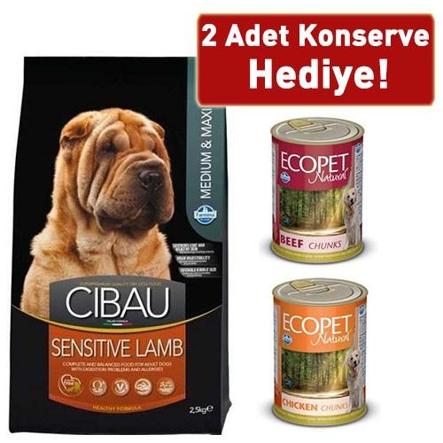 Cibau Kuzulu Orta Ve Büyük Irk Köpek Maması 2,5 Kg