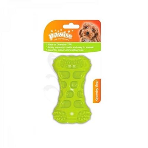 Pawise Squeaky Bone-Plastik Köpek Diş Kemiği 10,5Cm