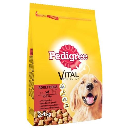 Pedigree Kuru Erişkin Biftek&Kümes Hayvanı Kuru Köpek Maması 2,4 Kg