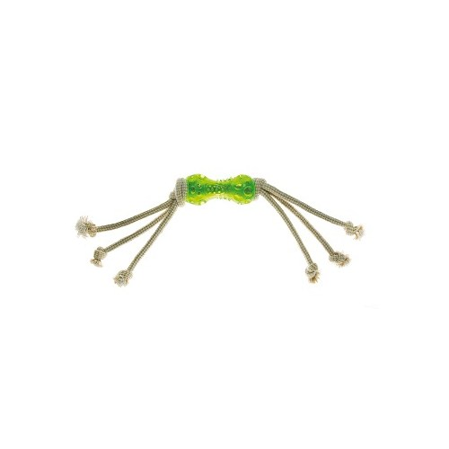 Imac Osso In Tpr Con Corda Naturale 58Cm Köpek Kauçuk Oyuncaklı İp