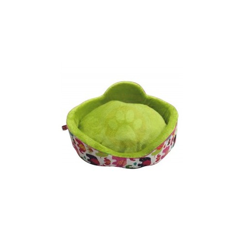 Lepus Sünger Simit Kedi Ve Küçük Irk Köpek Yatağı (Fil Desenli)