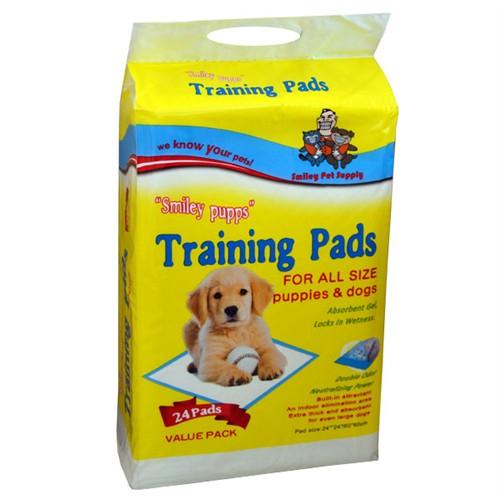 Smiley Pupps Yapışkanlı Köpek Çiş Pedi 24 Adet