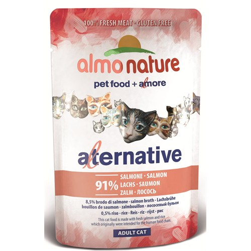 Almo Nature Alternative Cats Somon Kedi Konservesi 55 G.