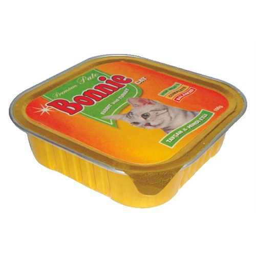 Bonnie Tavşan-Hindi Kedi Pate 100 Gr. gk