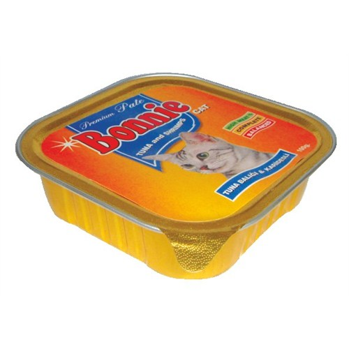 Bonnie Tuna Balığı-Karides Kedi Pate 100 Gr.