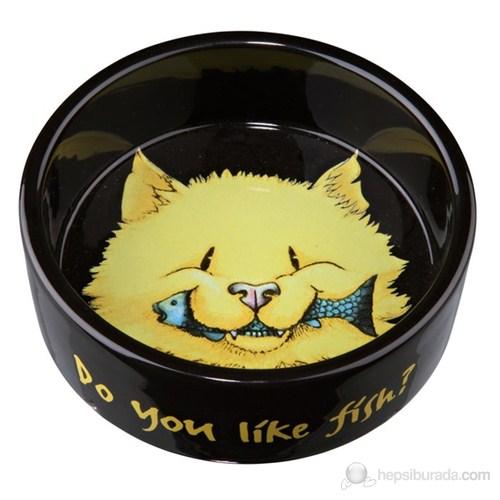 Kedi Seramik Mama ve Su Kabı 0,3lt/12cm