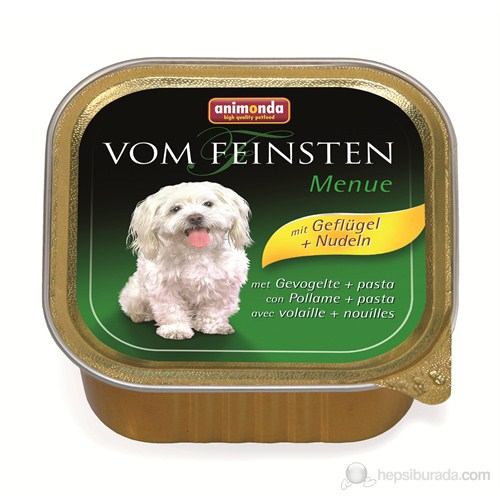Animonda V.F.Menü Kümes Hayvanlı&Makarnalı Köpek Konserve 150 Gr
