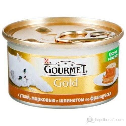 Purina ProPlan Gourmet Gold Kıyılmış Ördekli, Havuçlu Ve Ispanaklı Konserve Kedi Maması 85 Gr x 24'lü