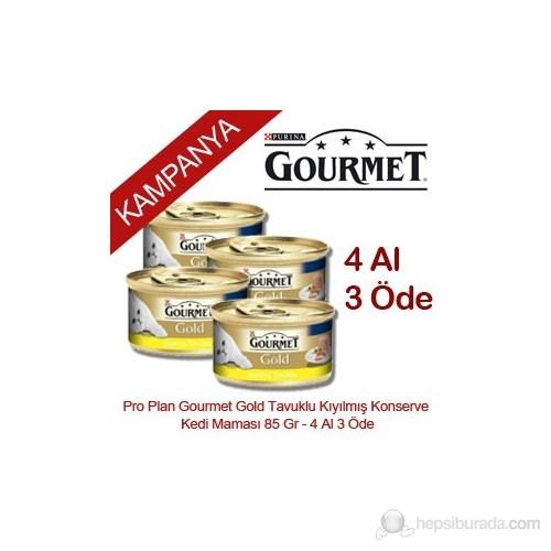 Pro Plan Gourmet Gold Tavuklu Kıyılmış Konserve Kedi Maması 85 Gr