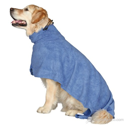 Trixie köpek bornozu, M, microfibre, 50 cm, Mavi