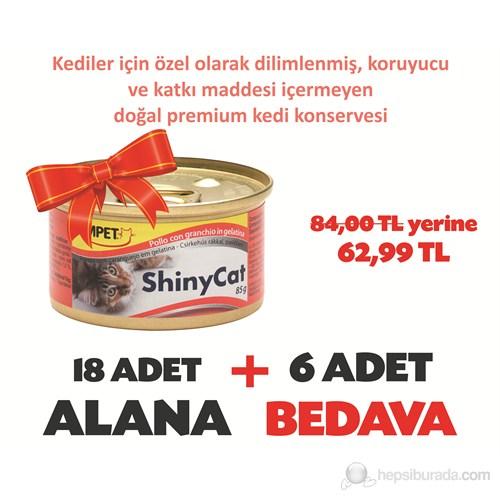Gimpet Shinycat Tavuklu&Yengeçli Kedi Konserve 85 Gr 18+6
