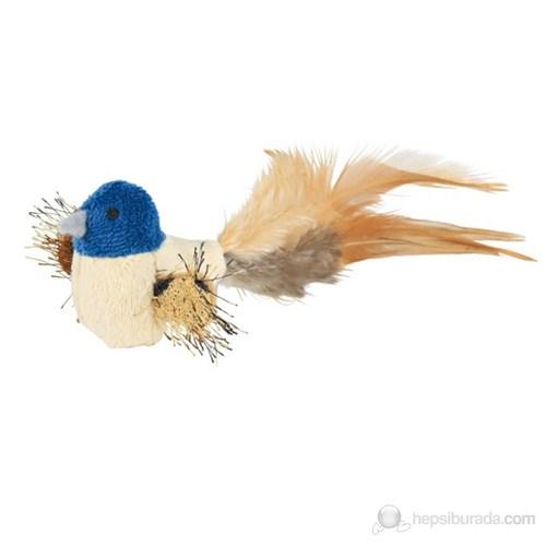 Trixie Kedi Oyuncağı, Peluş Kuş Tüy Kuyruklu, 8 Cm