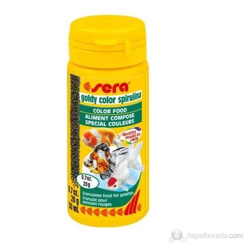 Sera Goldy Color Spirulina Balık Yemi 50 Ml